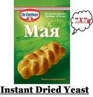 7x7g INSTANT Dried Yeast Dr Oetker for Bread Cake Deserts and Baking Fast Acting
