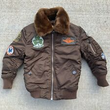 Alpha Industries Brown Flyers Maverick Pilot Bomber Jacket 3T