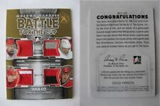 2012-13 Motown Madness Irbe Brindamour Yzerman Hasek 1/1 battle for the cup GOLD