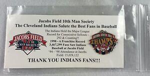 MLB 1998 Cleveland Indians Jacobs Field 10th Man Society Baseball Lapel/Hat Pin