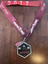 2017 Spartan Race Stadium Series Cbp Sprint Finishers Medal w/ Trifecta Wedge