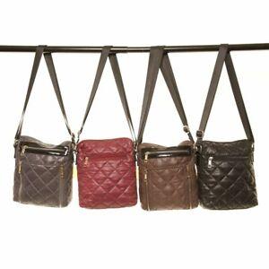 Hawkins Quilted Ladies Cross Body Bag Messenger Essential Shoulder Handbag Purse