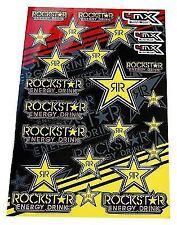 4mx Sticker Gráficos calcomanías Rockstar Energy Drink logotipo se adapta a Moto