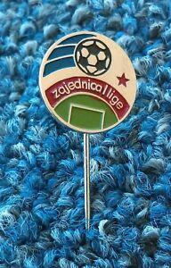 Yugoslav First League, First Federal Football League, vintage pin, badge !