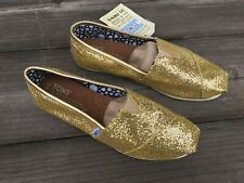NWT Tom's Women's Glitter Classic Slip-On 100% Authentic