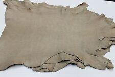 Italian Goatskin leather skins vegetable tan GRAINY PEANUT BEIGE 4sqf #A1749
