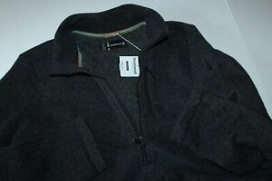 Smartwool Hudson Trail Fleece Wool Half Zip Sweater Charcoal New Extra Large XL
