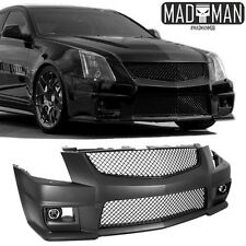 CADILLAC CTS-V FRONT BUMPER CONVERSION KIT W/ BLACK GRILLES & PROJECTOR FOGS