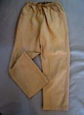 "Reg Size 12 Haband Casual Tan Pants  Inseam 27"" Elastic  Waist Textured Cotton"