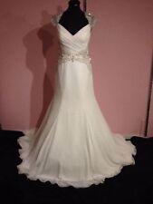 Chiffon V Neck A-line Regular Wedding Dresses