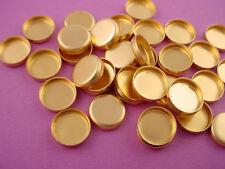 Brass Round Bezel Cups 8mm High Wall - 36 pieces