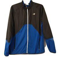 New Balance NB Jacket Size XL Lightning Dry Zip Up Packable Blue Gray Long