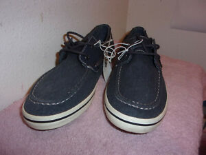 BRAND NEW MEN'S MOSSIMO ELLIS NAVY BLUE CANVAS  CASUAL DECK  SHOES
