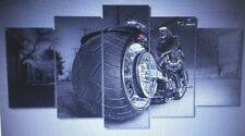 Motorcycle Bike Chopper Custom Style Painting Canvas Print Room Decor Print Post