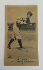 Ty Cobb Detroit Tigers 1916 M101-4 # 38 Sporting News reprint Baseball Card