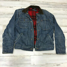 POLO Denim Jacket M Mens Ralph Lauren WESTERN COWBOY Vtg Jean Jacket
