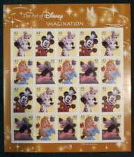 The Art of Disney IMAGINATION, 20 42¢ Stamp Sheet, Very Fine Condition