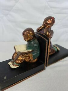 Beautiful Vintage Chinese Bookends solid brass in Great Condition!!