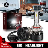 LED Headlight Bulbs 6000K White Kit For 1996-2013 Freightliner Columbia Low Beam