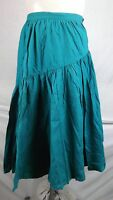 New Vintage Style High-Waisted Blue Green A-line Skirt Womens Size 8 Medium