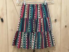 Vtg Circle T Marilyn Lenox Native American South Western Rodeo Skirt Sz Small
