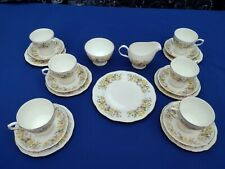 More details for vintage colclough bone china hedgerow 21 piece tea set