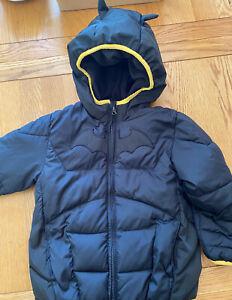 Batman Gap Coat Age 5 Black Puffa Jacket