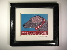 Stephen Huneck My Dog's Brain Framed and Signed Print 1998