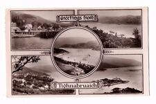 Scotland - Tighnabruaich, Multiview - Real Photo Postcard Franked 1928