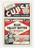 Chicago Cubs 1936 Score Card Blue Valley Butter Baseball custom die cut MAGNET