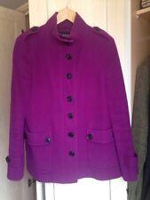 Jaeger Women's Pea Coat Wool Purple Size 12