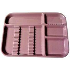 Plasdent Dental Instrument Divided Setup Trays Size B Mauve 2/Pack FDA