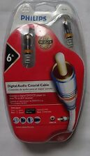 Philips Digital Audio Coax Cable 24K Gold Plated 6ft M62797