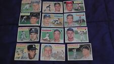 1956 Topps Baseball Lot of 12 Cards ~ Rough Condition Ed Mathews NY Yankees Cubs