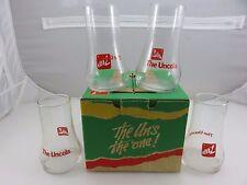 7UP The Uncola Upside Down Glasses 4pc Set In Original Box Vintage 1985