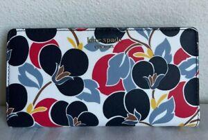 NWT Kate Spade New York Cameron Breezy Floral Large Slim Bifold Wallet  WLRU5418