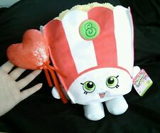 "Shopkins Poppy Corn Plush 13"" Just Play Valentine Red Heart Balloon NWT"