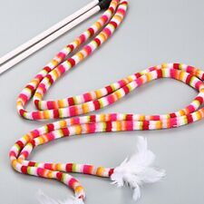 New listing Kitten Cat Toy Rod Teaser Wand Rainbow Streamer Plastic Stick @sul