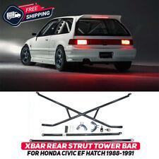 X-Bar Rear Strut Tower Crossbar For Honda Civic Hatchback 3dr EF 1988-1991 New
