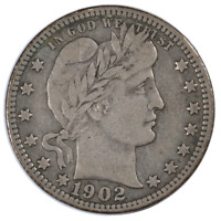 1902-O Barber Quarter Very Fine Condition