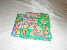 GROUP OF 24 PACKS OF 1990 TOPPS BASEBALL COINS
