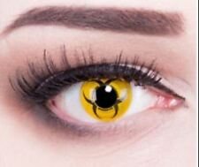 Crazy Colour Contact Lens Lentilles Kontaktlinsen yellow Biohazard zombie Party