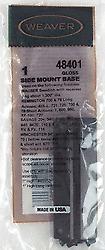 Weaver Remington Savage Winchester Side Mount Scope Base 1 48401