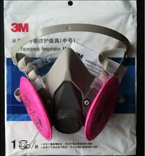 Free Shipping 3M 6200 Spray Paint/Dust Mask respirator+3M 2091 P100 Filters #010