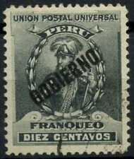 Peru 1896-1900 SG#O350, 10c Black, Official Used #E1292