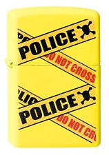 Zippo en TU MECHERO Caution Police Chrome barrera policía nuevo embalaje original coleccionista!!!