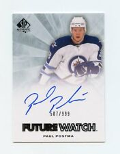 11/12 SP AUTHENTIC FUTURE WATCH ROOKIE RC AUTO #267 PAUL POSTMA 507/999 *58353
