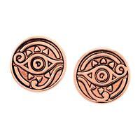 Chrysalis Charmed 14K Rose Gold-Flashed Brass Eye of Horus Stud Earrings