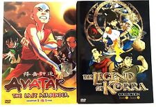 Avatar: The Last Air Bender (1-61End) + The Legend Of Korra (1-52End) ~ 9DVD SET