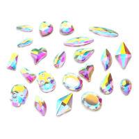 "30pcs Flatbacks No-Hotfix Rhinestones CRYSTAL AB ""Pick Your Shape"" for Nail Art"